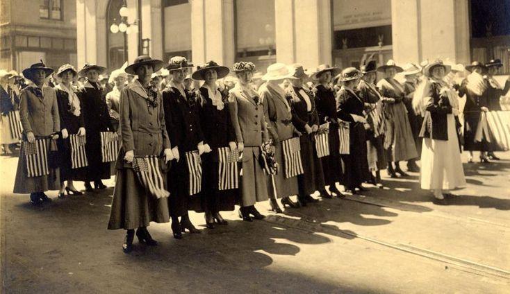 California women's march for the vote