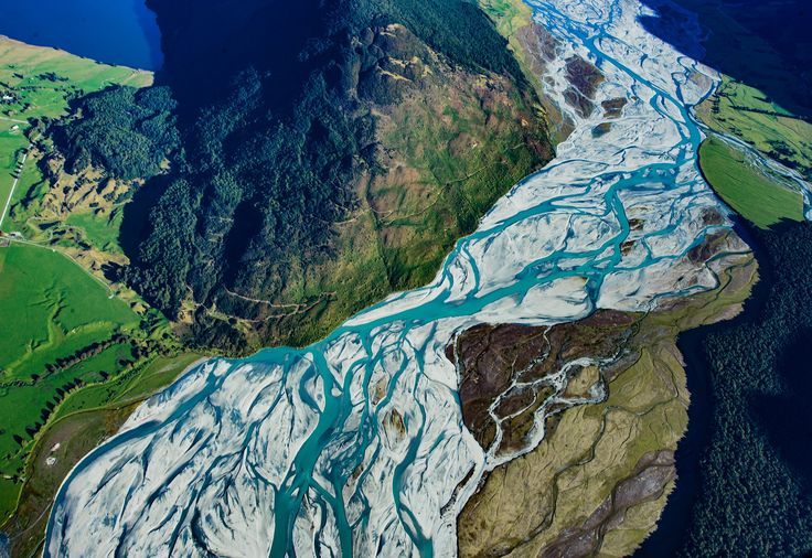 Beautiful braided rivers coming down from a glacier in the Southern Alps of New Zealand. #NewZealand #purenz #auroraHDR By Trey Ratcliff #treyratcliff www.StuckInCustoms.com