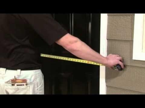 How To Measure Your Door Opening For A LARSON Storm Door #LARSONdoors  #StormDoors