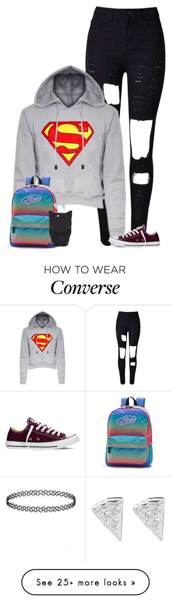 """Super Geek"" by the-l0st-girl on Polyvore featuring Converse, Vans, STELLA McCARTNEY, women's clothing, women, female, woman, misses and juniors"