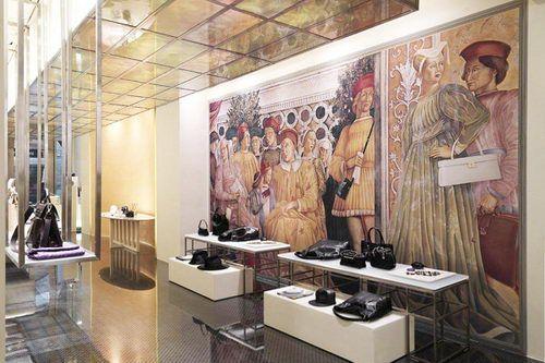 Gianfranco Lotti, Women's Bag Store Design, retail store, retail store design, store design, classic store design, interior design, design, architecture