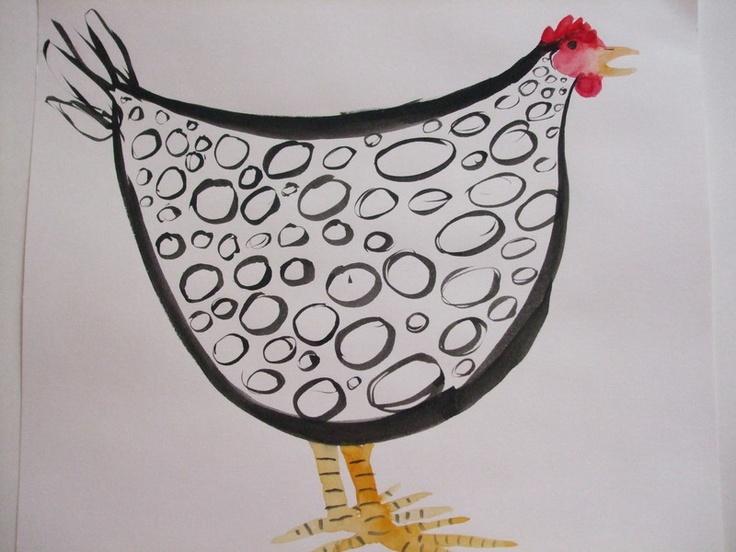 Annie the Hen - Crowinghensandwhistlingwomen - Watercolour paintings