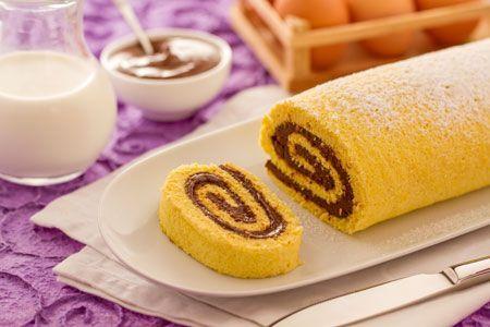 Rotolo alla Nutella - http://ricette.giallozafferano.it/Rotolo-alla-Nutella.html