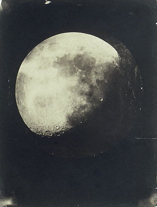 john adams whipple, the moon 1857-1860. salted paper print from glass negative.