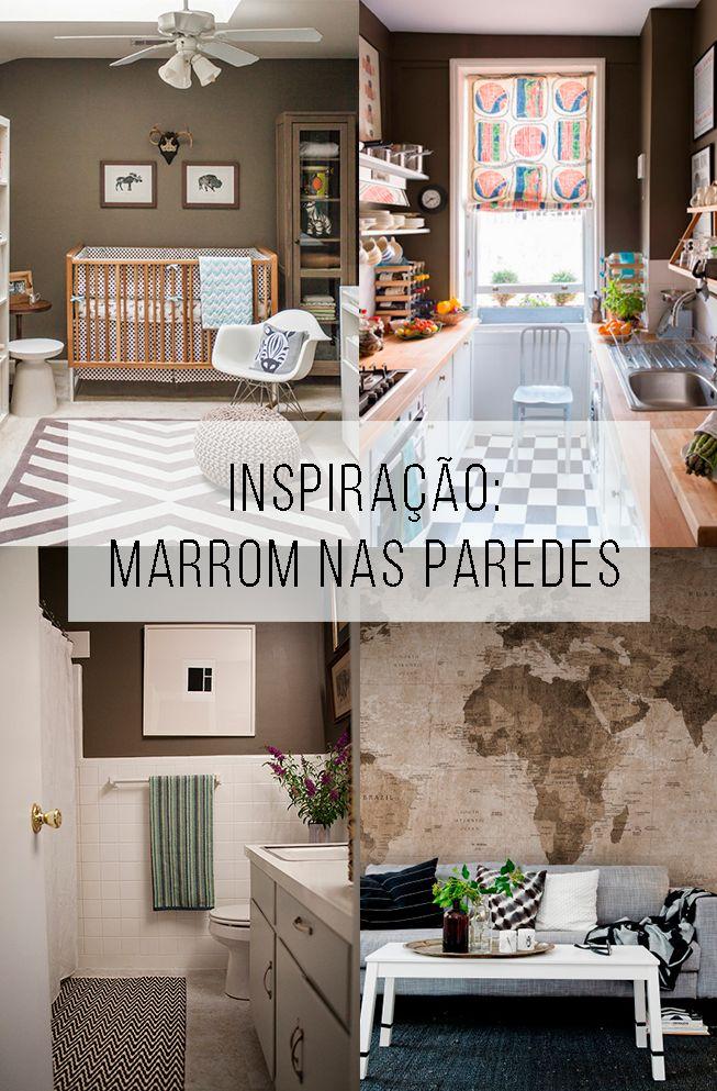 Uma ideia para você amar: café nas paredes! // ambientes na cor marrom + decorando com café // palavras-chave: inspiração, decoração, pintura, cor, paleta, marrom, quarto, sala, banheiro, quarto de criança, quarto de bebe, cozinha, marrom, tinta