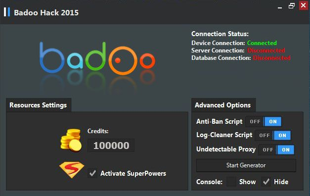 Badoo free super powers android