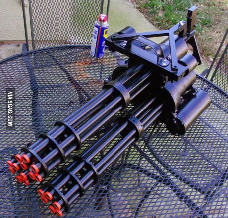 When you get bored and have 3 airsoft miniguns.
