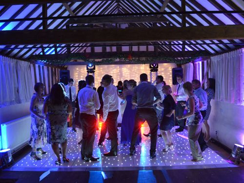 A white starlight dancefloor is a really attractive thing to dance on and you can be sure that it will be a focal point for your guests. Everybody will want to dance on the white dance floor.