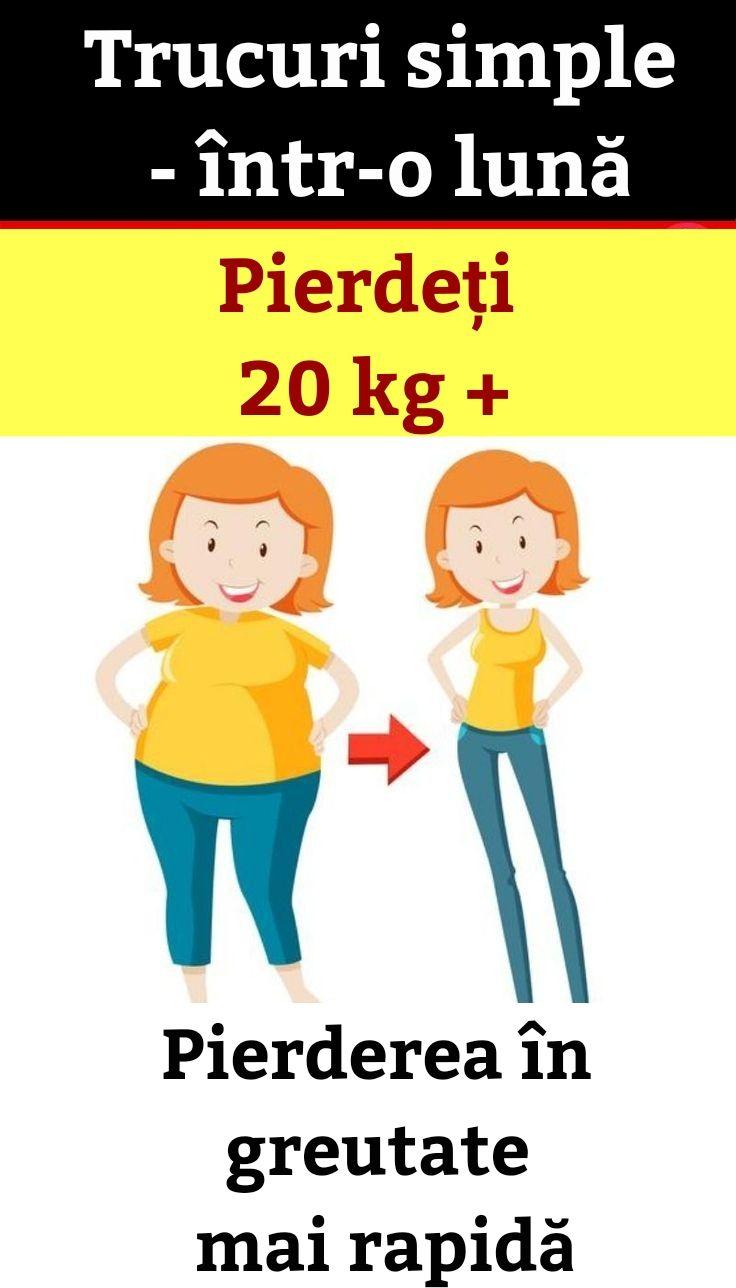 20 kg pierdere în greutate într-o lună cele mai simple modalități de a arde grăsime
