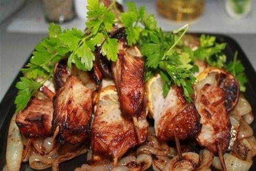 Шашлык из куриного филе в аэрогриле