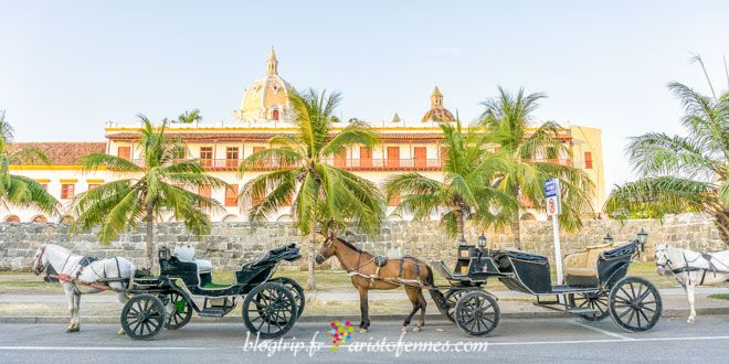 Carriage ride through the streets of Cartagena
