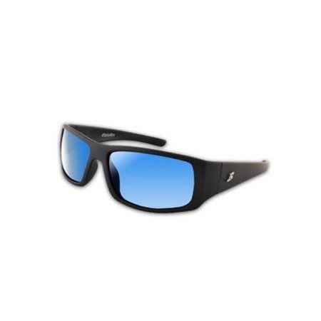Bimini Bay Polarized Sport Glasses Black Frame Blue Lens Sunglasses MB-BB6SB