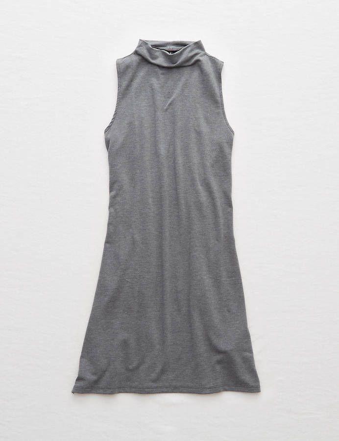 Aerie Fleece Midi Dress