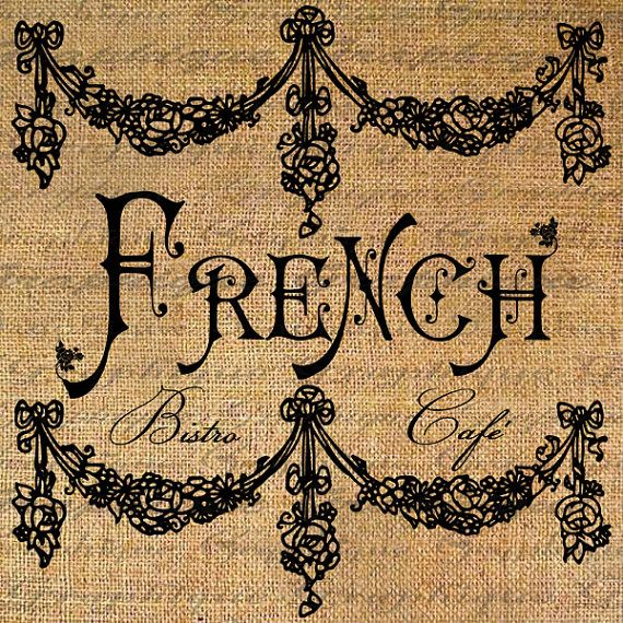 FRENCH BISTRO CAFE Text Words Quote Frame Digital by Graphique