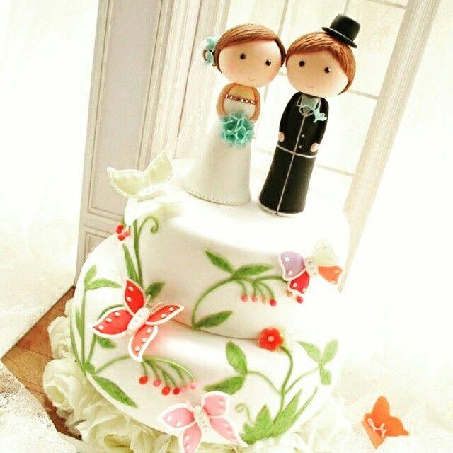Boda pastel, toppers novios wedding
