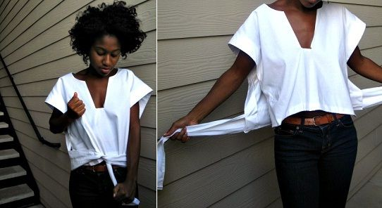 Wrap shirt.