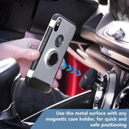 iPhone X magnetische Ring Hülle Handyhülle von NICA, Schutz-Cover für KFZ-Halterung mit 360-Grad Finger-Halter, Dünnes Hard-Case mit Ständer, Slim Back Etui Bumper für Apple i-Phone X