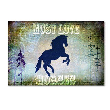 Trademark Fine Art 'Country Horse II' Canvas Art by LightBoxJournal, Size: 22 x 32, Green