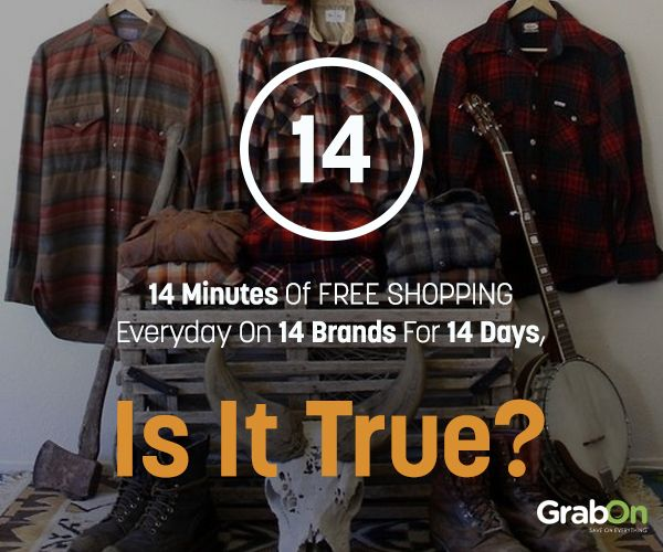 14 Minutes of FREE Shopping Everyday on 14 Brands For 14 Days, Is It True? #GOSF2014