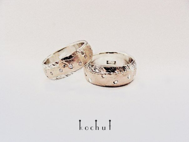 Wedding rings silver, gold