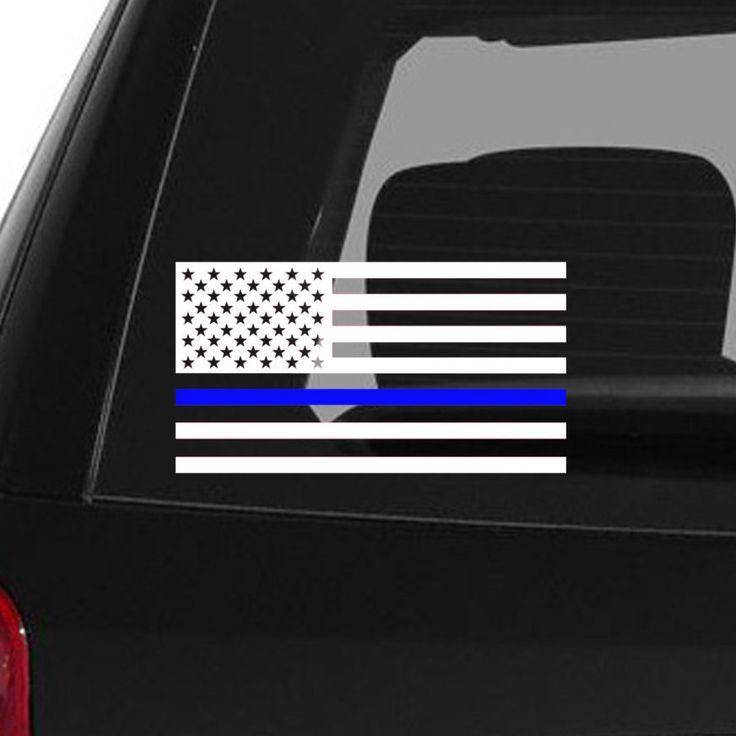 Thin blue line decal police decal blue lives matter leo law enforcement car