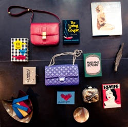 olympia le tan's handmade book clutches mixed with Chanel and Celine... i'm drooling as we speak