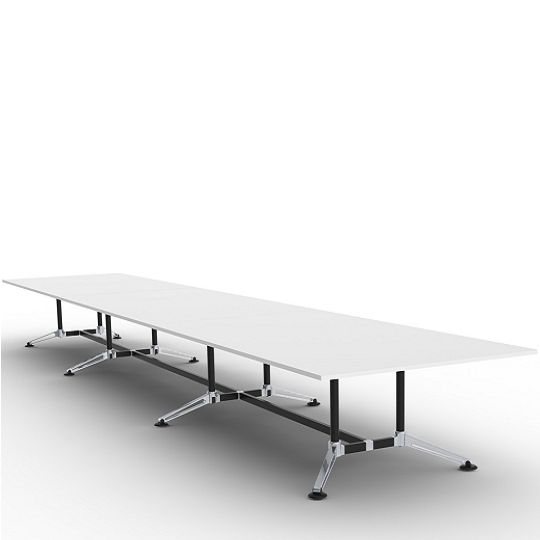 Incognito table and desk bases accommodate tops of infinite length, and are ideal for all work surface requirements including desks, meeting tables, boardroom tables and occasional tables.