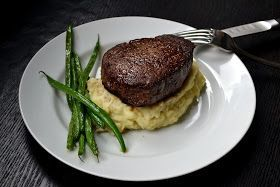 Filet Mignon - pan seated first and then finished in the oven. (Add butter to the pan with the oil)