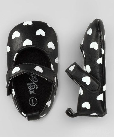#Baby Girl BlackAndWhite Hearthed Shoes