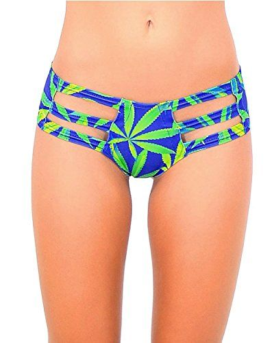 iHeartRaves Indica Haze Weed Micro Cut Out Rave Booty Shorts - 420 Shop