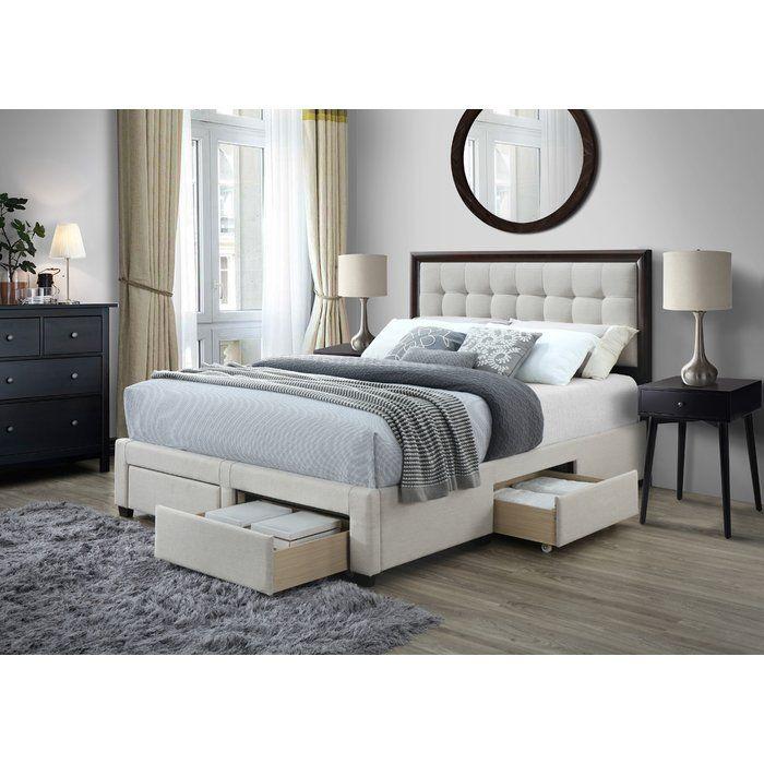 Abril Upholstered Storage Standard Bed Bed Frame With Storage Panel Bed Frames Upholstered Storage