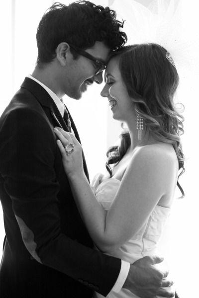 Love this bride & groom portrait.