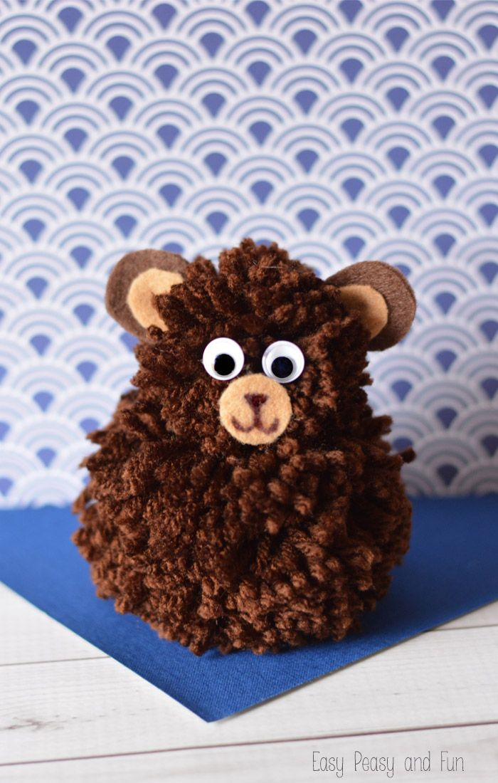 Cute Pom Pom Bear Craft