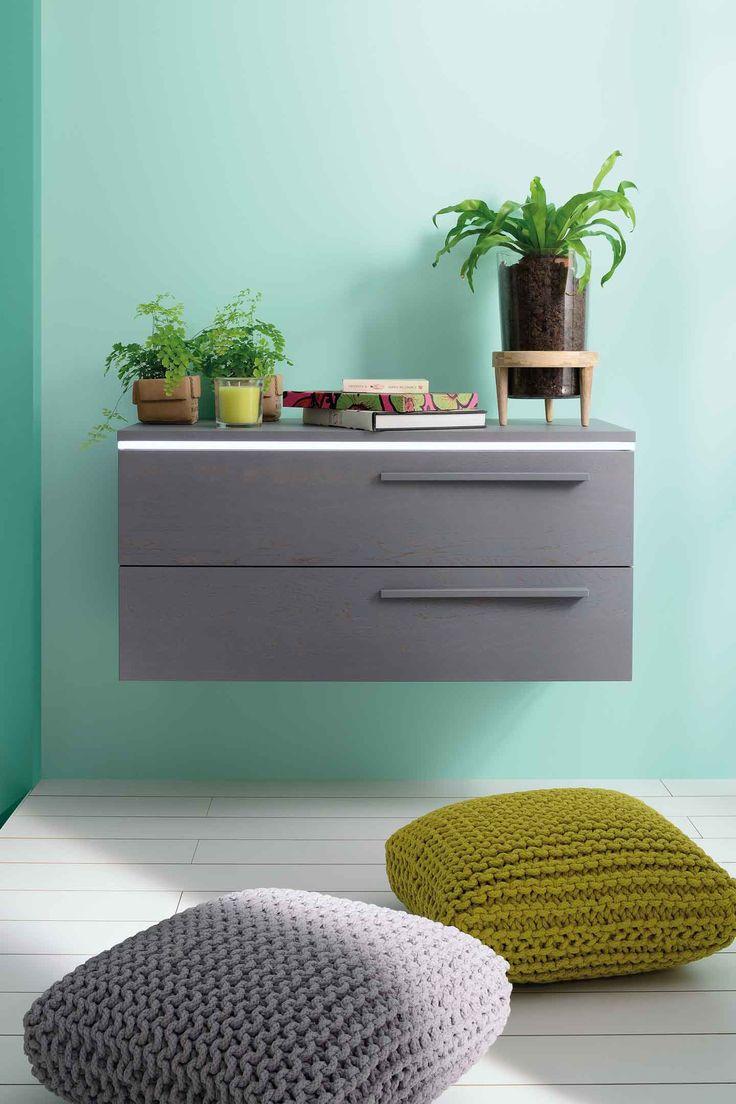 #sanijura #halo #grey #gris #home #deco #meuble #salledebain #bathroom #zen #plante