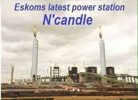 a Spoof of South Africa's looming energy crisis and the the Millions of Rands that Zuma has stollen from the tax payers to build his mansion Ndlandla.