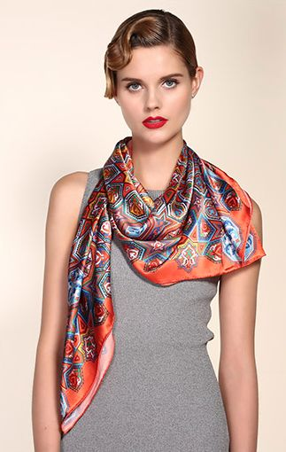 Silk Square Scarf - FashionGreen by VIDA VIDA