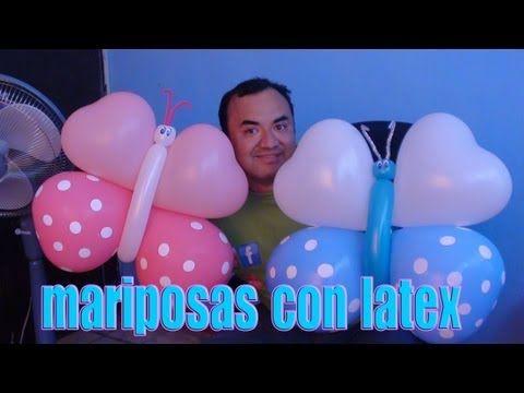 mariposas con globos chasty - YouTube