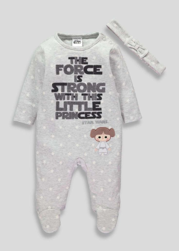 Unisex Star Wars Sleepsuit (Tiny Baby-12mths) View 1