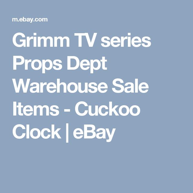 Grimm TV series Props Dept Warehouse Sale Items - Cuckoo Clock    eBay
