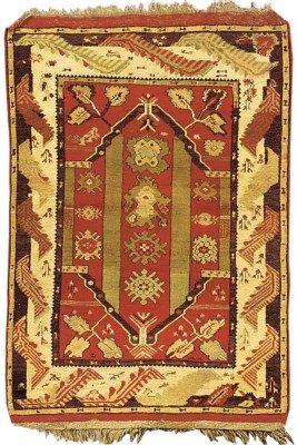 Melas prayer rug, Turkey   142cm. x 104cm.(4ft.8in. x 3ft.5in.) I Christie's Sale 5750