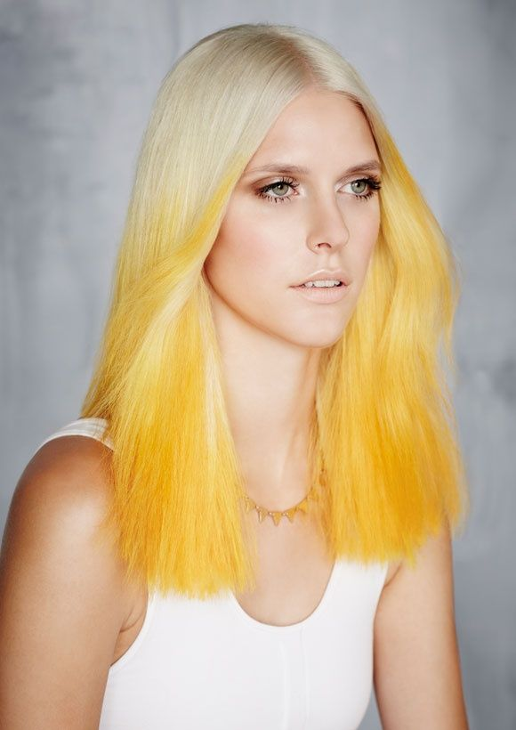 yellow #hair #dyed: