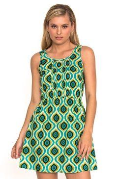 Mali Dress Affro Green