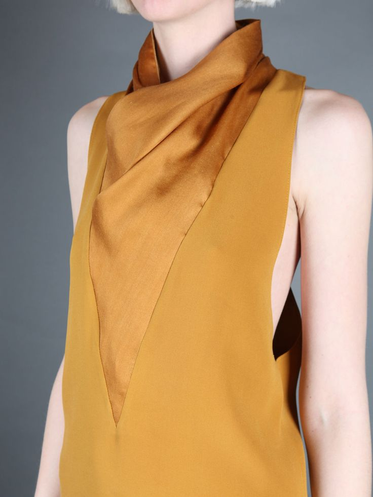 Haider Ackermann beautiful yellow silk shirt