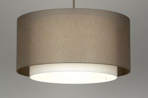 hanglamp 30137: modern, staal , rvs, stof