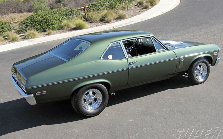 1970 Chevy Nova SS this was the color forest green....my first car.