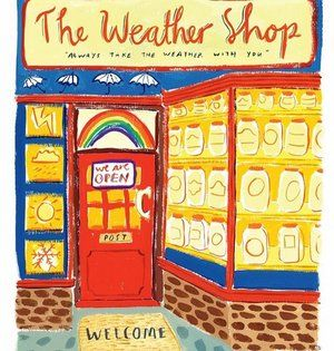 Let's visit The Weather Shop to order some sunshine for this weekend's #thedrawingimaginarium. Illustration by @jaydeperkin featured in Vol 41 coming out next week. #happymagforkids