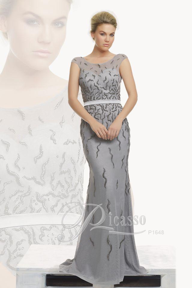 P1648 #Picasso #silvergown #weddings #engagements #eveningwear #dinnerdate