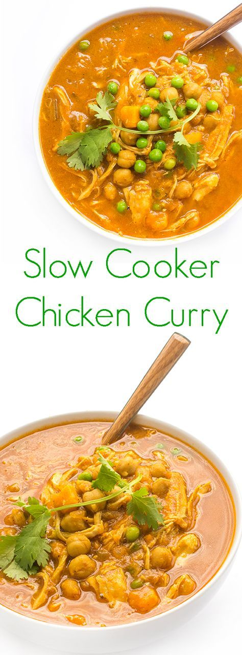 Slow Cooker Chicken Curry | Warm curry flavors and creamy coconut milk add flavor and moisture to lean chicken breasts.