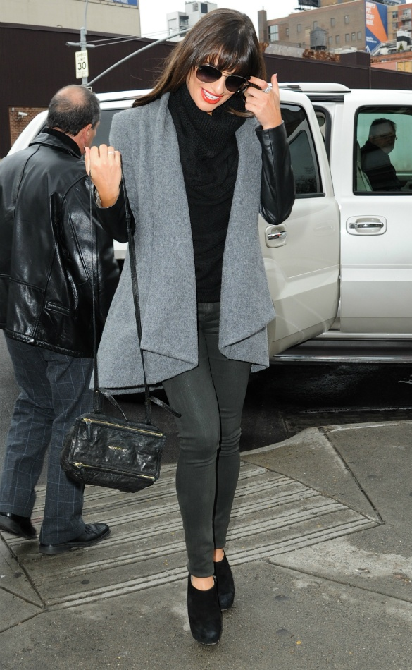 Style Queen Lea Michele Goes For Tailored Chic In New York - Celebrity Gossip, News & Photos, Movie Reviews, Competitions - Entertainmentwise