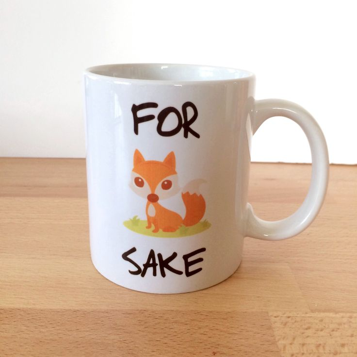 Mug - Funny Coffee Mug - Foxs Sakes - Gift For Mum - Gift For Her - Gift wife - Gift For Him - Stocking Filler Stuffer- Secret Santa Gifts by MCICREATIVECRAFTS on Etsy